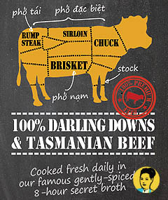 100% Aussie Tasmanian and Darling Downs Beef